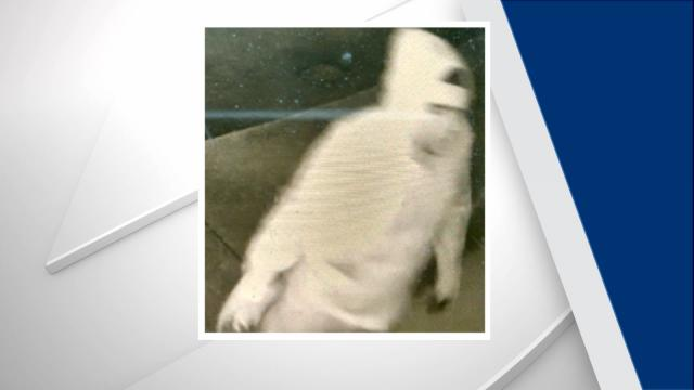 A security camera captured an image of a man Burlington police suspect of vandalizing the Alamance County Republican Party headquarters on Nov. 4, 2016.