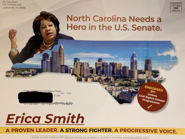 The Faith and Power PAC, which supports Erica Smith in North Carolina's Democratic Senate primary, has ties to Republicans.<br/>Reporter: Andy Specht