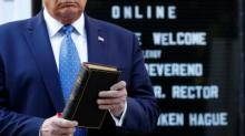 IMAGES: Fact check: Biden wrong about Trump holding Bible upside down