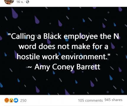 Facebook post references Barrett ruling
