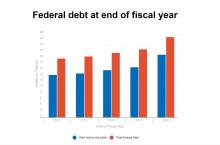 U.S. federal debt at end of 2016-2019 fiscal years