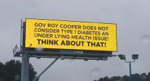 IMAGES: Fact check: Johnston County billboard slams Cooper over 'Type 1 diabetes'