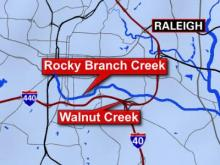 PCBs have been found in the sediment of Rocky Branch Creek and Walnut Creek in Raleigh.
