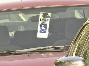 Handicapped parking placard