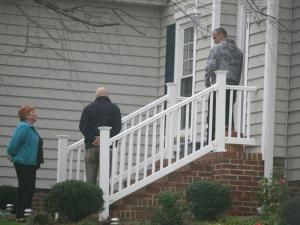 Two men posing as locksmiths promise to help a Cary woman locked out of her house, but the price for their service keeps going up.