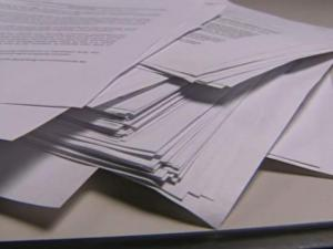A stack of dozens of protest letters show the amount of unhappiness over a decision by the North Carolina Department of Health and Human Services to award a company a $30 million no-bid contract for diabetes equipment.