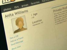 Anita Williams' online dating profile