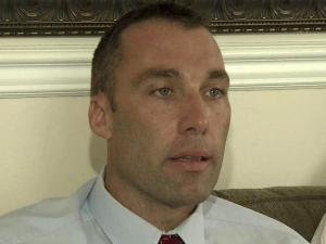 A fired Raleigh police officer strongly denies accusations that he had extramarital sex while on duty and claims in a lawsuit that he was dismissed unfairly because of his association with a local police interest group.