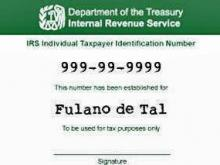 Individual Taxpayer Identification Number (ITIN) card