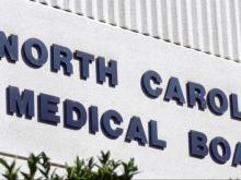 North Carolina Medical Board sign
