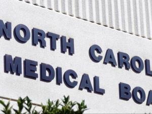 North Carolina Medical Board sign