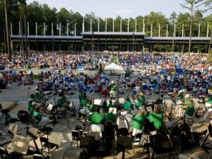The Cary Town Band entertains the crowd early in the evening.