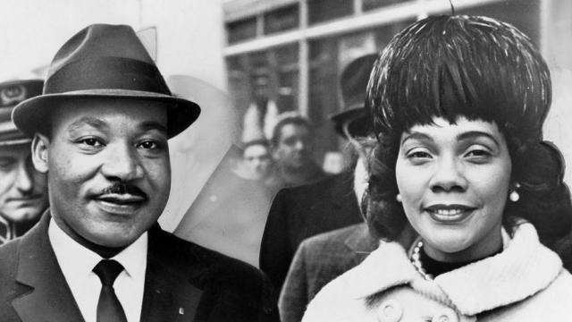 Dr. & Mrs. Martin Luther King Jr. pose for a portrait.  (World Telegram & Sun photo by Herman Hiller)