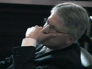 Durham District Attorney Mike Nifong sits during court proceedings Tuesday, June 12, to determine whether he is guilty of allegations that he violated State Bar ethics codes.