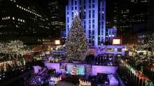 IMAGE: Rock Center's Eco-Friendly Tree Is Lit