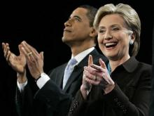Clinton picks up endorsement, Obama picks up basketball in N.C.