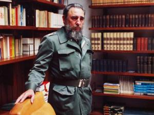 Cuban Premier Fidel Castro is shown in his office at the Presidential Palace in Havana, Feb. 11, 1985.  (AP Photo/Charles Tasnadi)