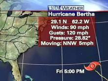 Bertha bending more easterly, may miss Bermuda