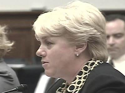 Mary Lauterbach testifies to Congress on July 31, 2008, about her daughter's attempts to have the Marines investigate incidents of harassment in the months before her death.