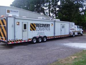 Cary-based Recovery Logistics began mobilizing 150 workers and equipment on Aug. 30, 2008 to support business clients in Louisiana. (photo courtesy of Recovery Logistics)