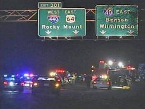 A pedestrian was struck on Interstate 40 near the Rock Quarry Road exit in Wake County, authorities said.