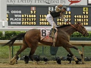 SATURDAY: Calvin Borel rides Mine That Bird to a victory in the 135th Kentucky Derby horse race at Churchill Downs, in Louisville, Ky. (AP Photo/Rob Carr)