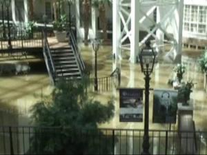 Melissa Patzwaldt took this photo of the Gaylord Opryland Hotel on Sunday, as emergency officials evacuated the hotel. At one point, it was under more than 10 feet of water.