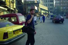 Chris Hondros working in Afghanistan