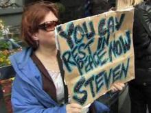 Ground Zero crowds react to bin Laden's death