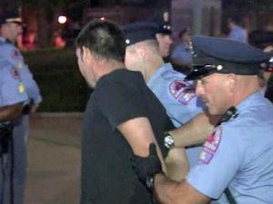"Raleigh police arrested 19 supporters of the ""Occupy Wall Street"" movement on Saturday after they refused to leave the State Capitol on Oct. 15, 2011."