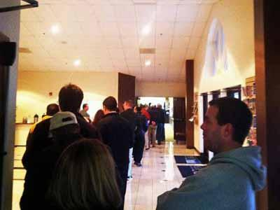 Long voting line