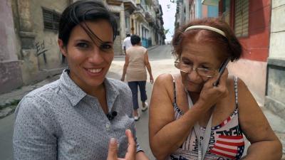 WRAL's Leyla Santiago with Caridad Martinez.