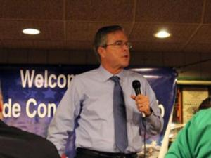 Republican presidential candidate Jeb Bush speaks at a campaign event in Iowa on Jan. 13, 2016.