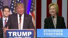 Trump, Clinton trade jabs