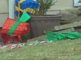 Woman blasting Christmas music attempts to run over ex