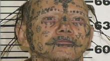 IMAGE: Police capture tattoo-covered, just-released sex offender