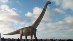 'World's largest dinosaur' model opens in Argentina