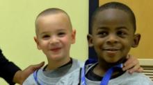 IMAGE: Boys who wanted same haircut to look alike recognized as 'heroes'