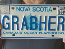 Man fights to keep 'GRABHER' license plate