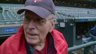 90-year-old veteran surprised with first pitch at ball game
