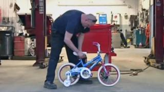 'Bike guy' generates smiles for dozens of kids in need