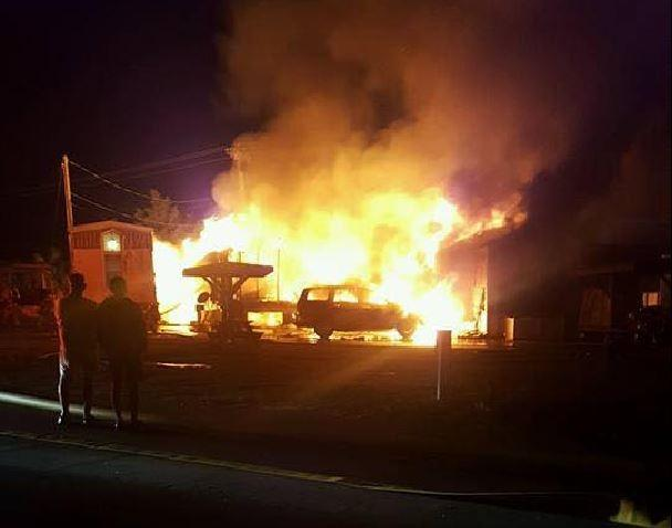 A fire killed two people early Tuesday morning at a Myrtle Beach campground. Photo courtesy of Kyla Lingerfelt Rice