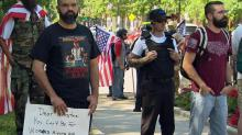 IMAGE: Rally against Islamic law in Raleigh draws counter-protest