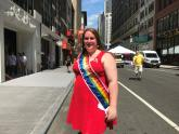 IMAGE: Transgender firefighter marches as NYC Pride Parade grand marshal