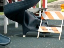 Playground mystery: Slide explodes, injures 9-year-old boy