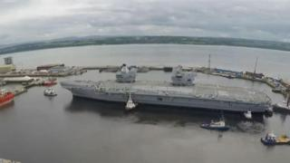 Timelapse: UK Navy launches largest warship