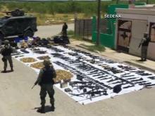 Authorities seize military-grade arsenal near Texas border