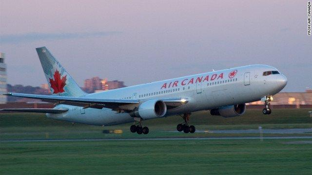 A file image of an Air Canada plane.