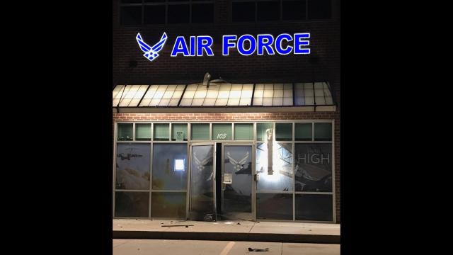 Local and federal authorities are investigating an explosion at a US Air Force recruiting office in Bixby, Oklahoma.