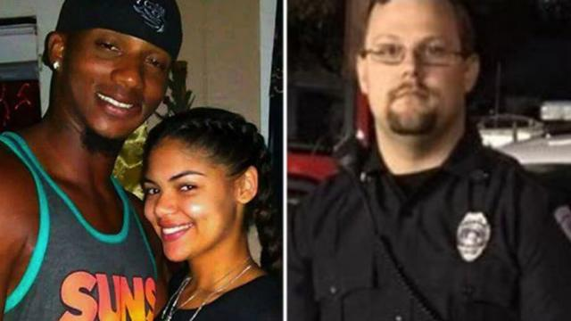 DeJuan Guillory and DeQuince Brown are seen here on the left, and Evangeline Parish sheriff's Deputy Holden LaFleur is seen here on the right.